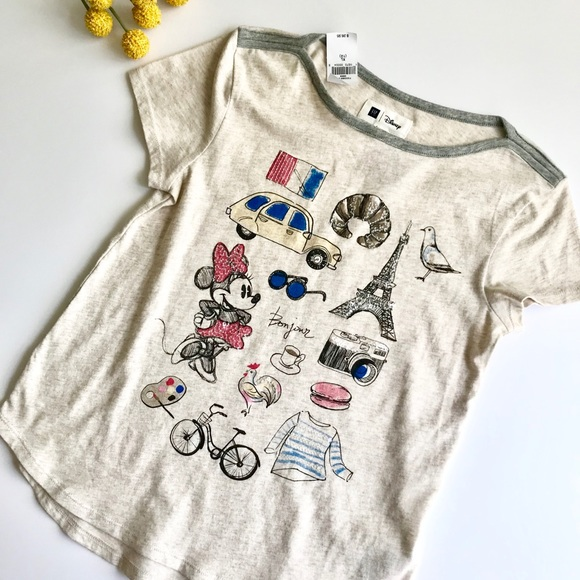 Disney 24 Months 3T Paris Minnie Mouse Tee T-shirt Top Baby Girl Clothing